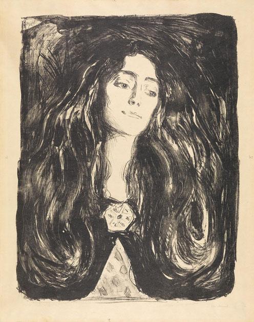 エドヴァンド・ムンク「『ブローチをつけた婦人』(1903年)