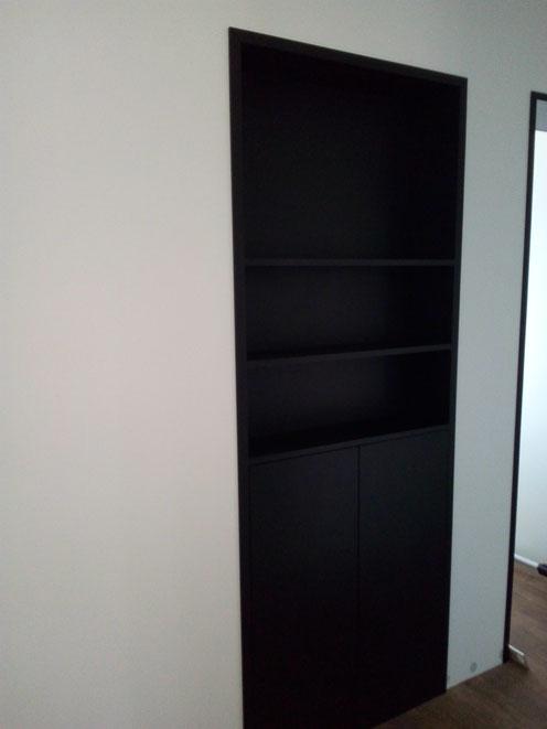 niche placard chêne noir