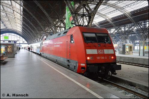 101 135-2 steht am 3. Januar 2016 in Leipzig Hbf.