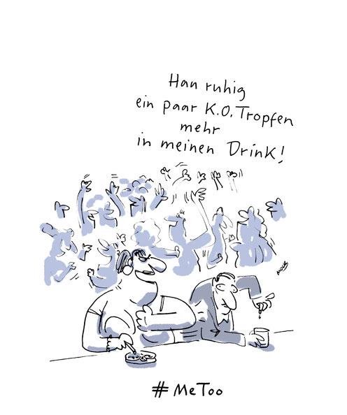 Cartoon von Mock zum Thema Sexismus #MeToo