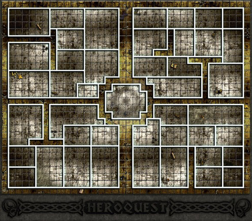Grand plateau Heroquest