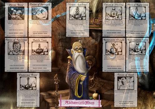 Cartes alchimiques anglaises...