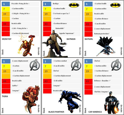 Carte Super héros Zombicide