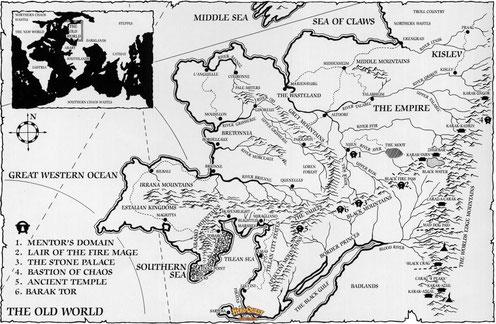 Carte du monde  de Heroquest