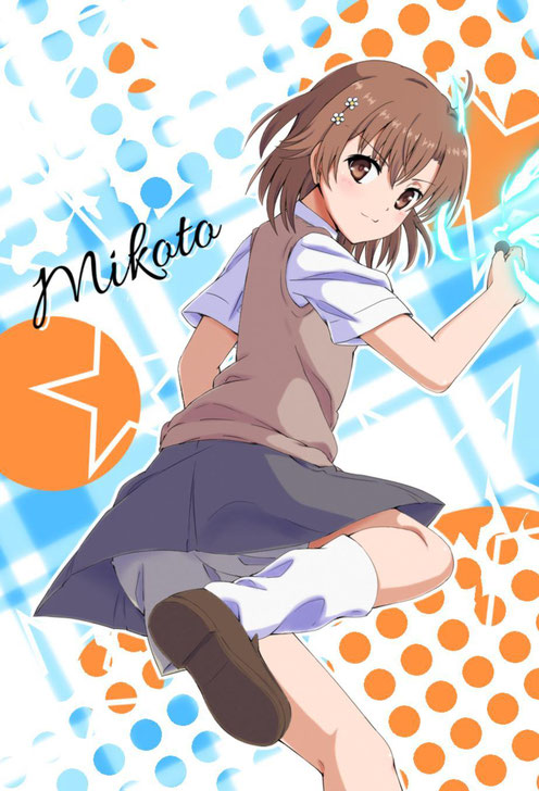 Mikoto Misaka du manga To Aru Kagaku No Railgun. Source: http://www.gramunion.com/tagged/misaka%20mikoto