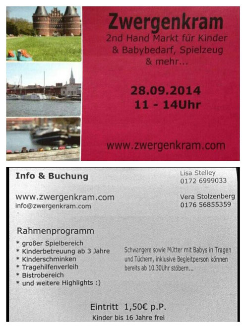 Flyer für den zweiten Zwergenkram Markt am 28. September, Schuppen 6