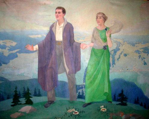 L'Espérance, peinture de Marcel Amiguet, peinte en 1921-1922 pour l'église des Charbonnières