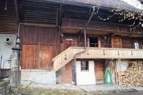 01. Mai 2017 - Das Bauernhaus ist leer. Familie Mosimann ist vorübergehend ausgezogen.