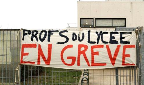 lycée profs en grève