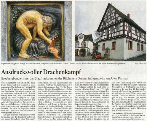 Frankfurter Allgemeine Zeitung vom 14.1.2014 über die Ausgabe 04/2013 der Zeitschrift Der Odenwald.