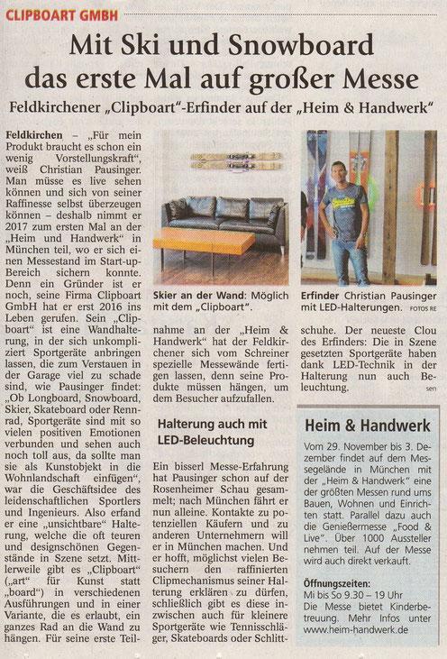 Artikel aus dem Oberbayrisches Volksblatt vom 16.11.2017