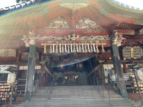 光の虹 富士浅間神社
