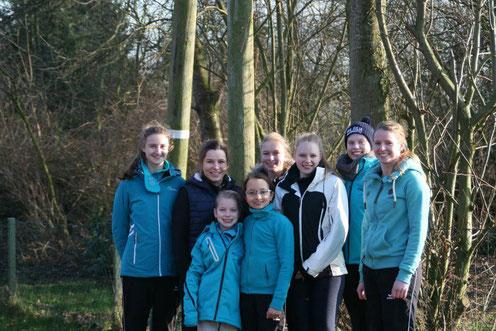 Team 2018 - Janne, Alina, Anna, Kea, Marie, Kim, Thara, Julia (v.l.)