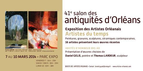 Claude Rossignol - Affiche 41è salon des antiquités d'Orléans 2014