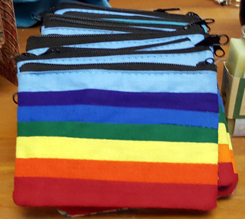 Rainbow purse ; courtesy of Sheriar Books