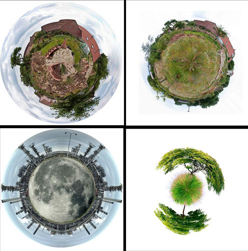 Verzerrungsfilter Polarkoordinaten: Planeten