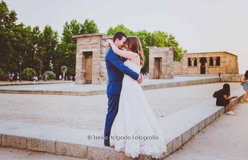 postboda, gran via, madrid, ciudad, post boda, templo de debod