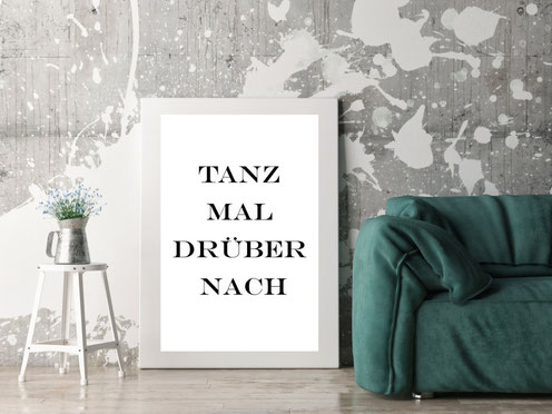 Typografie Inspiration, Poster, Print