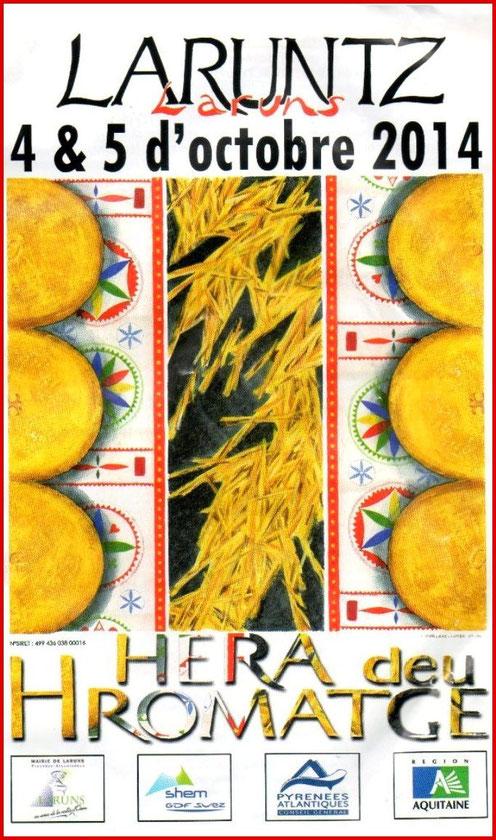 Programme de la Fête au Fromage 2014, Hera deu Hromatge, à Laruns en Vallée d'Ossau (64)