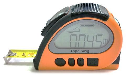 音声メジャー 傾斜計/水平器「テープキング」