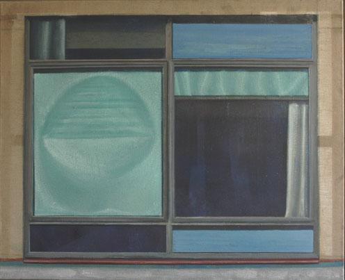 DRESDNER FENSTER Öl auf Leinwand  135 x 110 cm