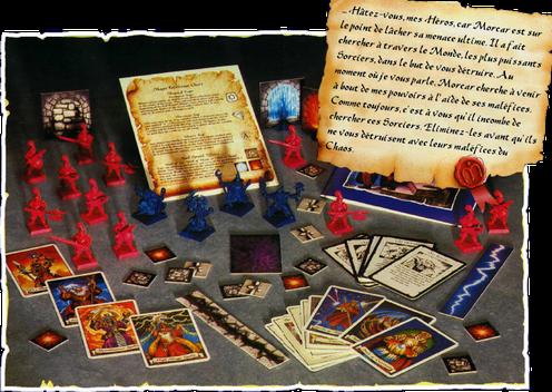 Les Sorciers De Morcar est la quatrième extension du jeu HeroQuest. Hélas, c'est aussi la dernière en Europe et la distribution du jeu sera arrêtée peu de temps après; une édition comprenant les figurines des hommes d'armes conclura la jeu.