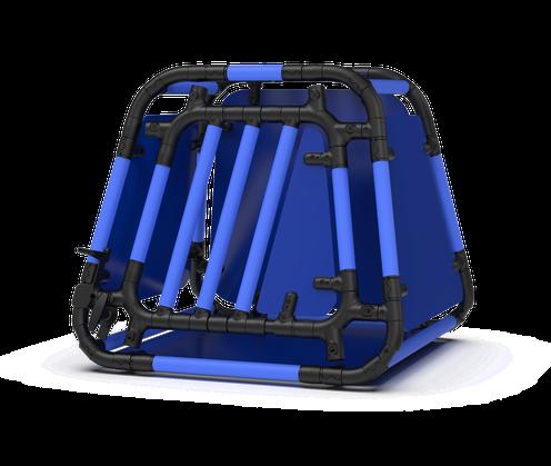 Hundebox hellblau/blau 7.3