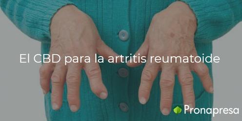 El CBD para la artritis reumatoide