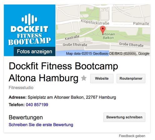 bild: dockfit fitness bootcamp auf google maps