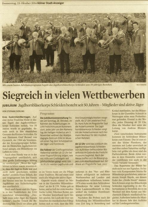 Kölner Stadt-Anzeiger v. 23.10.2014