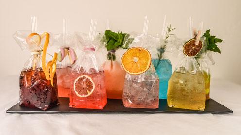 I drink creati per l'evento.