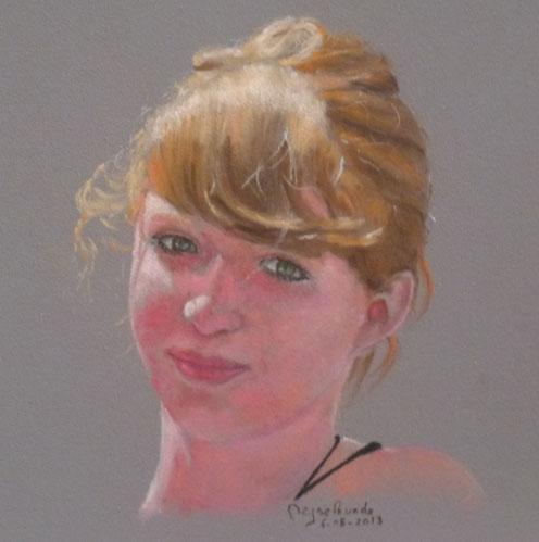 portrait, pastel, enfant, Schmincke, Sennelier, Rembrandt,