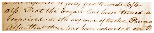 The churchwardens' accounts presented at the Vestry meeting on  Easter Monday 1820