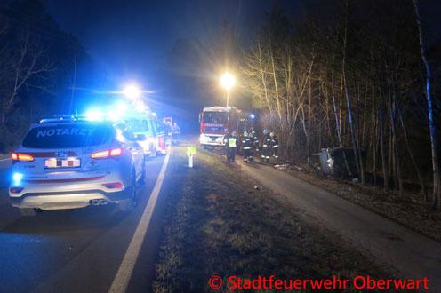Feuerwehr, Blaulicht, Verkehrsunfall, B50, Oberwart