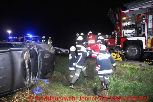 Feuerwehr; Blaulicht; BFKDO Jennersdorf; Stadtfeuerwehr Jennersdorf; PKW; Unfall;