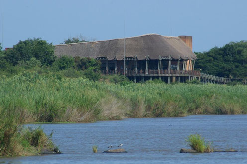 Blick auf das Restcamp Lower Sabie im Kruger Nationalpark