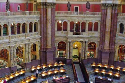 Hauptlesesaal im Jefferson Building der Library of Congress
