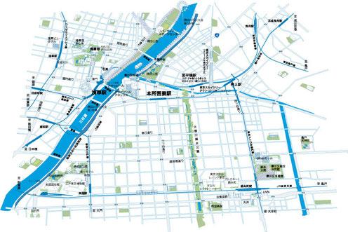 隅田川イラストマップ