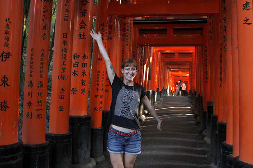 Bloggerin bei Fushimi Inari