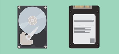 Vergleich von SSD zu HDD Festplatten