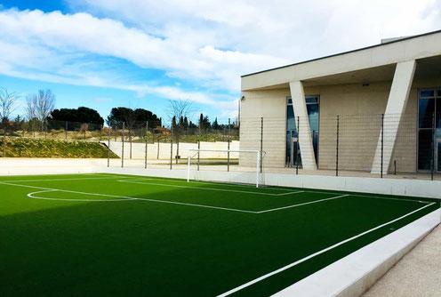 Imagen del campo de fútbol del Colegio Alemán de Madrid