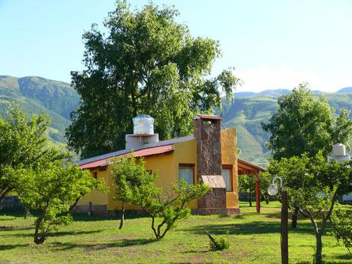Was für ein Ort zum Entspannen: Unsere traumhafte Cabana in Tafi del Valle (Foto Jörg Schwarz)