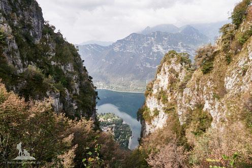 Aussichtspunkt auf der Berg-Wanderung mit Hund zum Monte Stino.