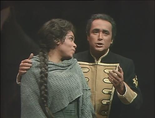 1987年、MET公演。レオーナ・ミッチェル演じるミカエラとホセの二重唱が本当に美しい