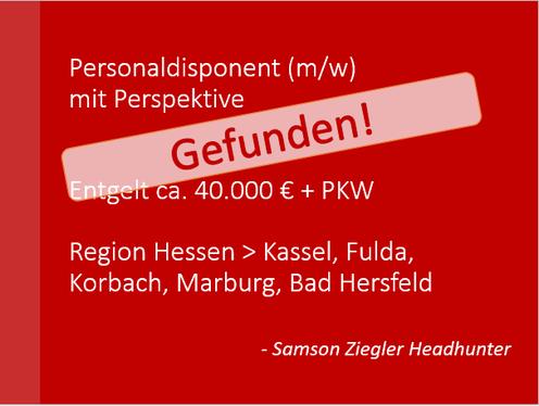 Personalvermittlung, Personaldienstleistung, Personal-Disponent (m/w), Hessen, gefunden