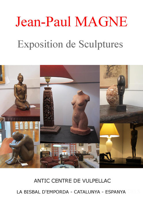 sculpture argile femme nu artistique exposition jean-Paul magne