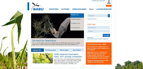 NAJU-Verbandsnetz - Hier anmelden!