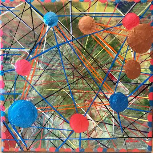 Meine ganz eigene Interpretation der Nervenzelle und ihren Verknüpfungen.