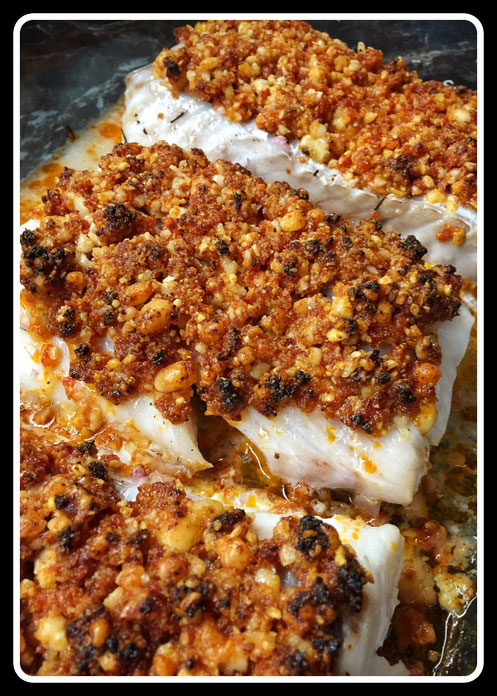 Cabillaud Crumble Chorizo/Parmesan