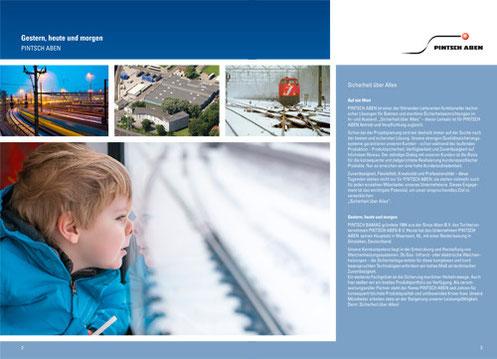 Broschüre Pintsch Aben - Layout gemäß vorhandenem Corporate Design